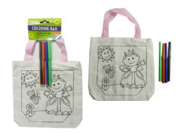 96 Units of Coloring Canvas Goody Bag - Arts & Crafts