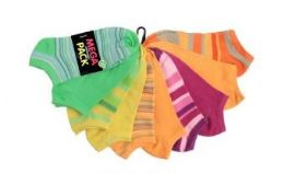 120 Units of Women's Mega Pack No Show Socks - Womens Ankle Sock
