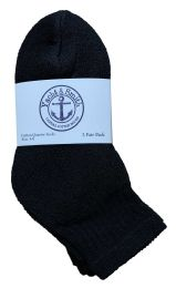 60 Units of Yacht & Smith Kids Cotton Quarter Ankle Socks In Black Size 4-6 BULK PACK - Boys Ankle Sock