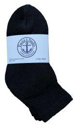 60 Units of Yacht & Smith Kids Cotton Quarter Ankle Socks In Black Size 4-6 BULK PACK - Boys Ankle Sock