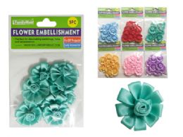 288 Units of 9 Piece Flower Embellishments - Arts & Crafts