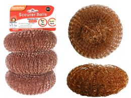 96 Units of 3pc Gold Scourer Balls - Kitchen Gadgets & Tools