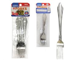96 Units of 6pc Stainless Steel Forks - Kitchen Gadgets & Tools