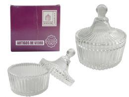 48 Units of Glass Sugar Bowl - Glassware