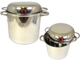 6 Units of Stainless Steel TwO-Handled Pot - Pots & Pans