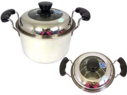 18 Units of Stainless Steel TwO-Handled Pot - Pots & Pans