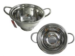 """12 Units of Stainless Colander 8.7""""diax5.25""""h - Strainers & Funnels"""