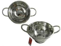 """12 Units of Stainless Steel Colander 8""""diax4.5""""h - Strainers & Funnels"""