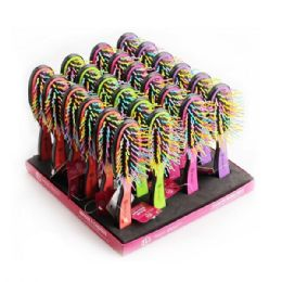 96 Units of Beauty Hair Rainbow Brush Rack - Hair Brushes & Combs