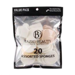 72 Units of 20 Piece Assorted MakE-Up Blender Sponge - Cosmetics