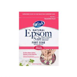 120 Units of Wish 16 Oz Menthol Spearmint Epsom Salt Foot Soak Shipped By Pallet - Skin Care