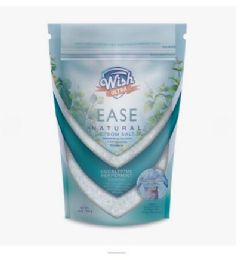 120 Units of Wish 16 Oz Muscle & Back Eucalyptus Peppermint Epsom Salt Shipped By Pallet - Skin Care
