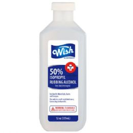 24 Units of Wish 12 Oz Rubbing Alcohol 50% - First Aid and Bandages