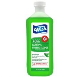 240 Units of Wish 12 Oz 70% Winter Green Rubbing Alcohol Shipped By Pallet - First Aid and Bandages