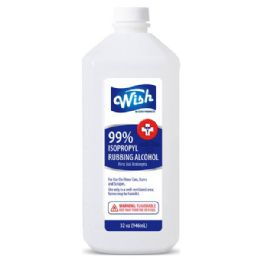 12 Units of Wish 32 Oz 99% Rubbing Alcohol Shipped By Pallet - First Aid and Bandages