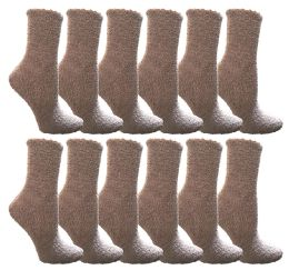 60 Units of Yacht & Smith Women's Fuzzy Snuggle Socks Gray, Size 9-11 Comfort Socks - Womens Fuzzy Socks