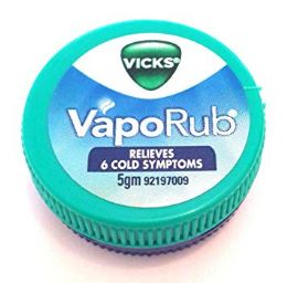 48 Units of Vicks 5mL Vaporub - Pain and Allergy Relief