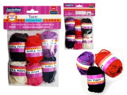 96 Units of 6 Pc Mini Yarn In Asst Colors - Rope and Twine