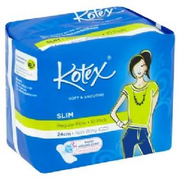 48 Units of 10 Piece Kotex Soft & Smooth Slim Pad - Personal Care Items