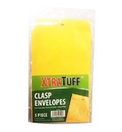 48 Units of Xtratuff 5 Pack Clasp Envelope - Envelopes
