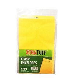 48 Units of Xtratuff 4 Pack Clasp Envelope - Envelopes