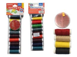 144 Units of 20 Piece Thread And10 Needles 2 Assorted - Sewing Supplies