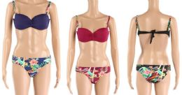 24 Units of Womens 2 Piece Floral Bathing Suite Assorted Colors - Womens Swimwear