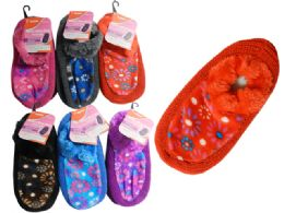144 Units of WOMEN SLIPPER W/RUBBER DOTS - Girls Slippers
