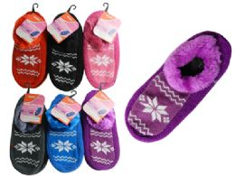 144 Units of WOMEN SLIPPER W/RUBBER - Girls Slippers