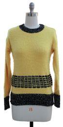 12 Units of Eyelash Sweater Yellow - Womens Sweaters & Cardigan