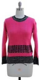 12 Units of Eyelash Sweater Pink - Womens Sweaters & Cardigan