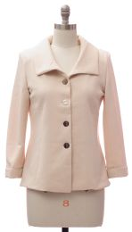 12 Units of Wide Collar Car Blazer Cream - Women's Winter Jackets