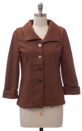 12 Units of Wide Collar Car Blazer Brown - Women's Winter Jackets