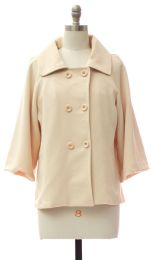 12 Units of Double Breasted Car Blazer Cream - Women's Winter Jackets
