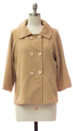 12 Units of Double Breasted Car Blazer Sand - Women's Winter Jackets