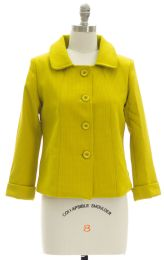 12 Units of Cropped Car Blazer Lime - Women's Winter Jackets