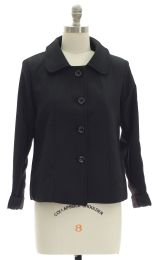 12 Units of Cropped Car Blazer Black - Women's Winter Jackets