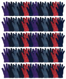180 Units of Yacht & Smith Women's Warm And Stretchy Winter Magic Gloves - Knitted Stretch Gloves
