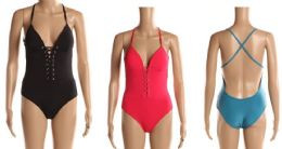 24 Units of Womens Bathing Suite Assorted Colors With Adjustable Straps - Womens Swimwear