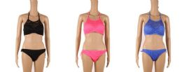 24 Units of Womans Assorted Color Bathing Suit With Adjustable Strap - Womens Swimwear