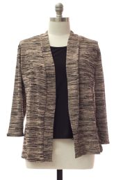 12 Units of Plus Tufer Hacci Knit Cardigan Taupe - Womens Sweaters & Cardigan