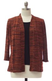 12 Units of Plus Tufer Hacci Knit Cardigan Rust - Womens Sweaters & Cardigan
