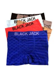 48 Units of Blackjack Men's Seamless Boxer Brief - Mens Underwear