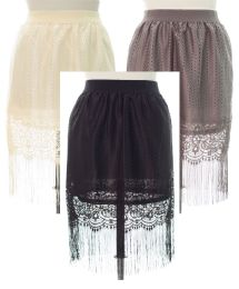 18 Units of Plus Plus Lace Shell Knee Length Skirt Assorted - Womens Skirts