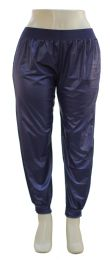 12 Units of Plus Faux Leather Joggers Navy - Womens Pants