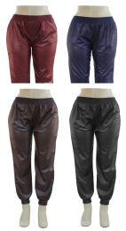 24 Units of Plus Faux Leather Joggers Assorted - Womens Pants