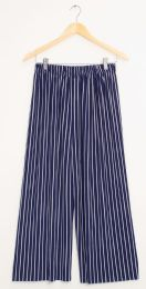 12 Units of Stripe Coulottes Multi Color Navy - Womens Skirts