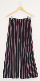 12 Units of Stripe Coulottes Multi Color Red Stripe - Womens Skirts