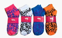 60 Units of Womens Junior Girls Printed Ankle Socks Size 9-11 Leopard Printed Socks - Womens Ankle Sock