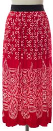 12 Units of Printed Skirt Red - Womens Skirts
